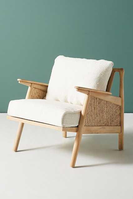 Linen Cane Chair - Anthropologie