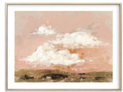 """afterglow, 40"""" x 30, white border, matte brass frame - Minted"""