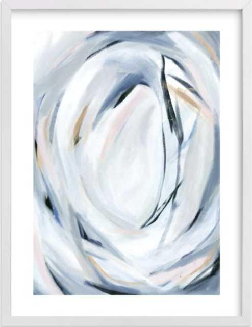 "Unbridled 18""x24"" white border white wood frame - Minted"