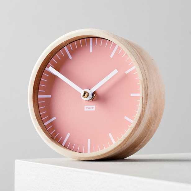 Tait Desktop Clock, Peach - West Elm