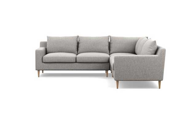 SLOAN Corner Sectional Sofa- Earth, Tapered Square Wood - Interior Define