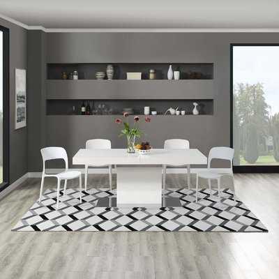 Douglas Forge Geometric Black/White Area Rug - Wayfair