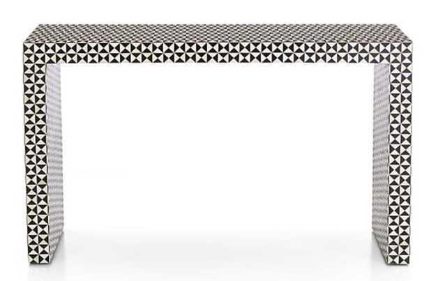 Intarsia Black Console Table - Crate and Barrel