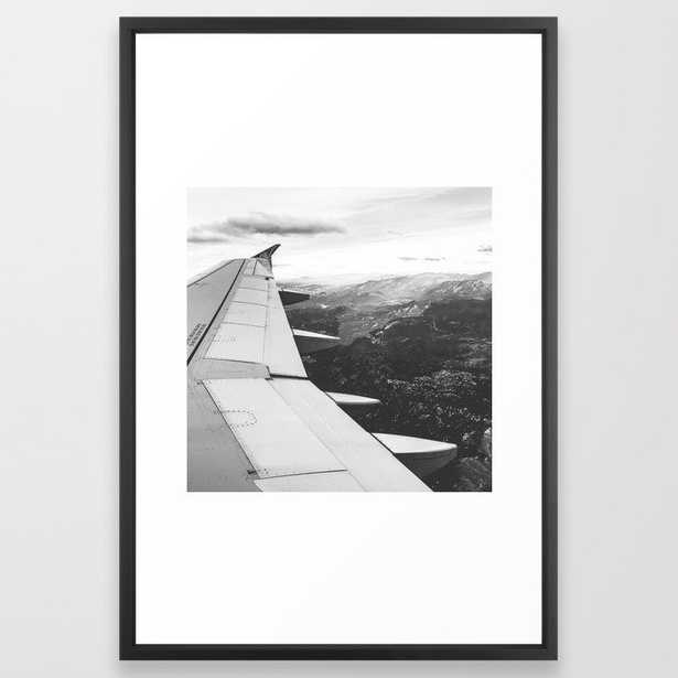 Mountain State // Colorado Rocky Mountains off the Wing of an Airplane Landscape Photo Framed Art Print - Society6