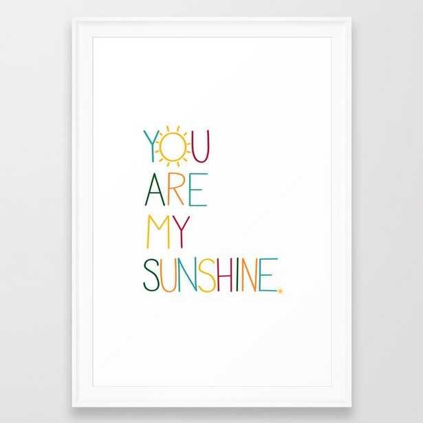 You are my sunshine Framed Art Print by Tonks Boudreau - Society6