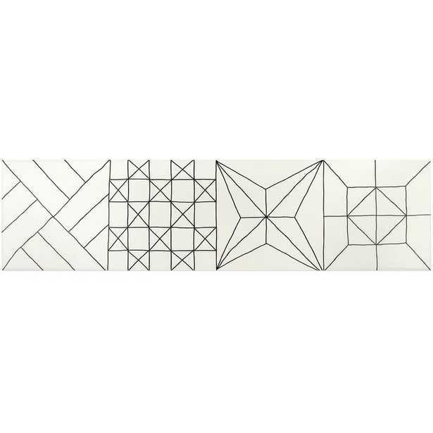 "9"" x 35"" Porcelain Field Tile in Matte Blanco/sq. ft. - Wayfair"