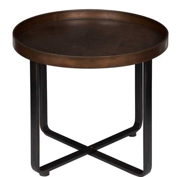 Wrenn Round Metal End Table - Wayfair