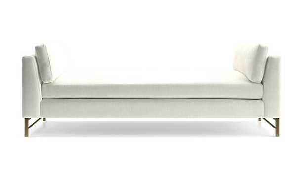 Tyson Daybed with Brass Base - Crate and Barrel