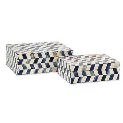 Jordynn 2 Piece Bone Box Set - Birch Lane