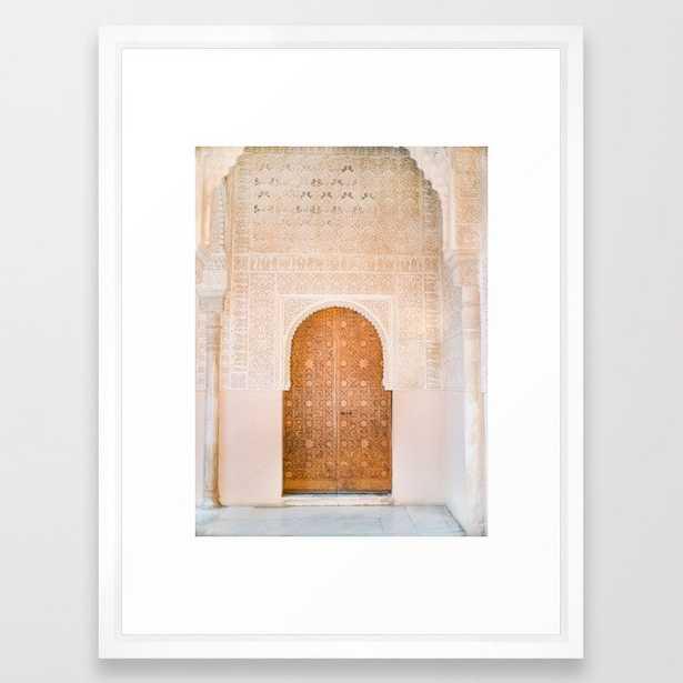 Alhambra door | Granada Spain travel photography | Bright and pastel colored photo art print Framed Art Print - Society6