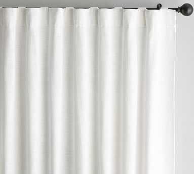 "Seaton Textured Drape, 50"" x 96"", White, Cotton Lining - Pottery Barn"