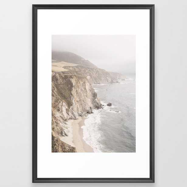 Big Sur California Framed Art Print - Scoop Black - LARGE (Gallery)-26x38 - Society6