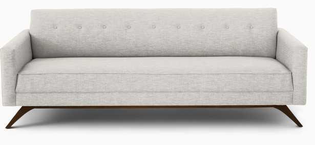 Modern Sofa - Roddy Mid Century Couch - Tussah Snow - Coffee Bean - White - Joybird