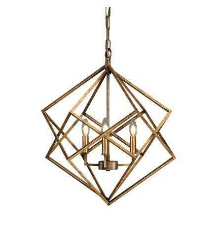 Ojas Geometric 3-Light Candle-Style Chandelier - Wayfair