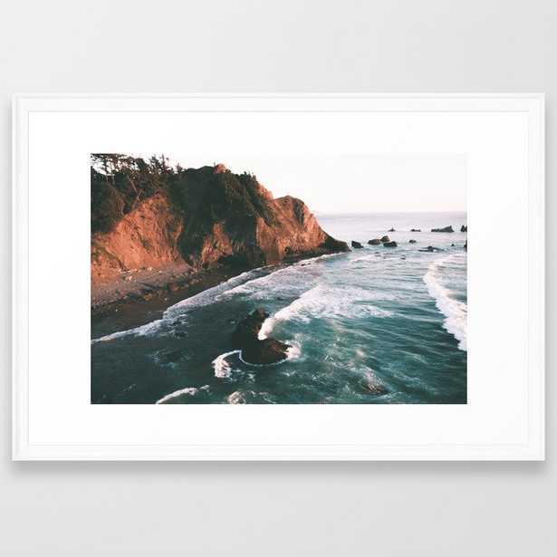 Oregon Coast V Framed Art Print - Society6