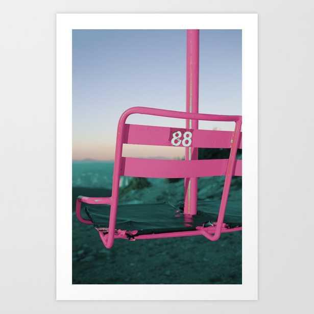 Pop Art 80's Chair Lift Art Print - Society6