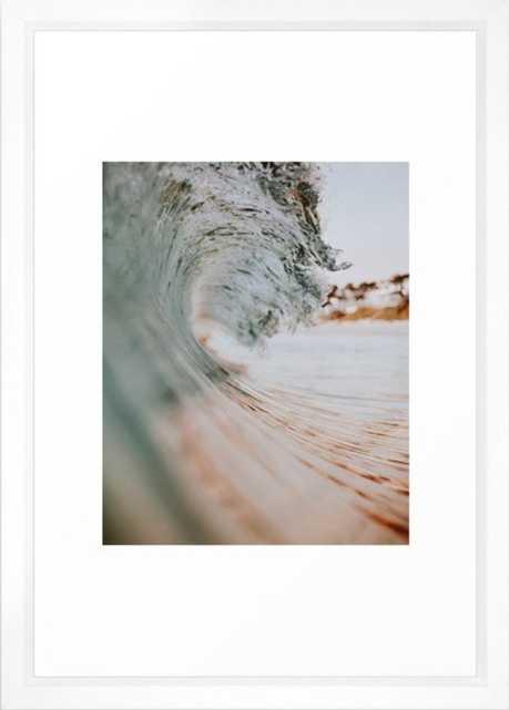 summer waves xiii Framed Art Print - Society6