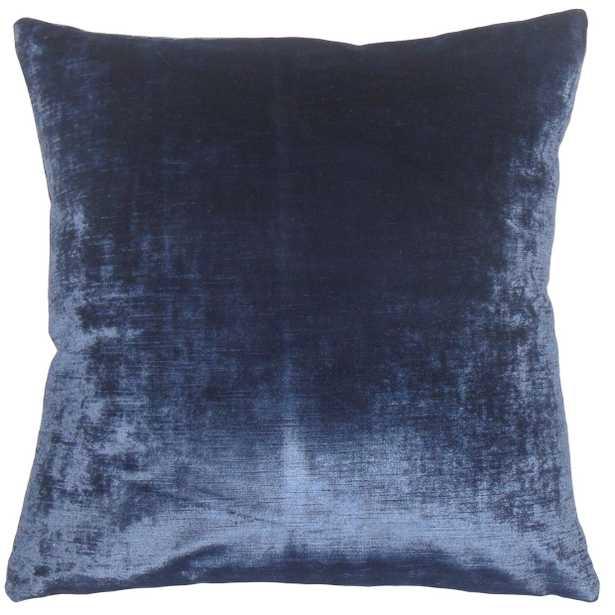 "Classic Velvet Pillow, Blue, 20"" x 20"" - Havenly Essentials"