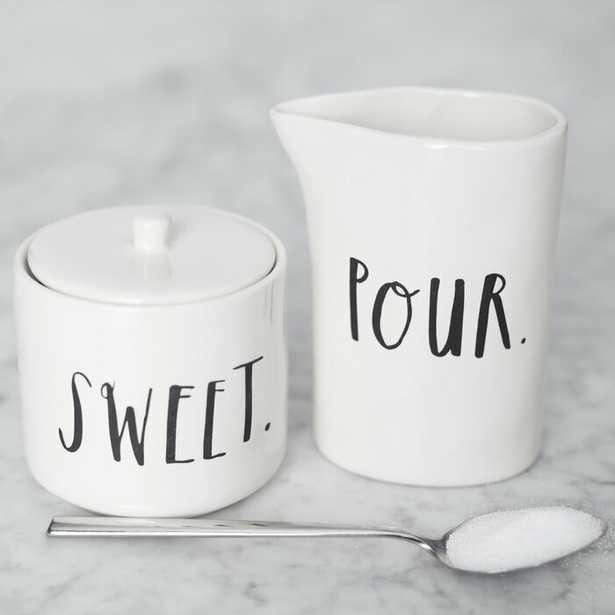 Rae Dunn Stem Print Sugar and Creamer Set - Wayfair