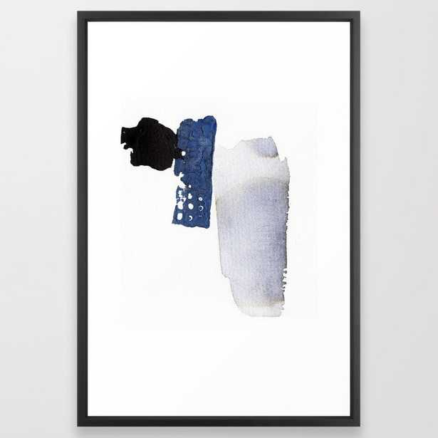 Navy Blue Abstract Framed Art Print 101 by PrintsProject - Society6