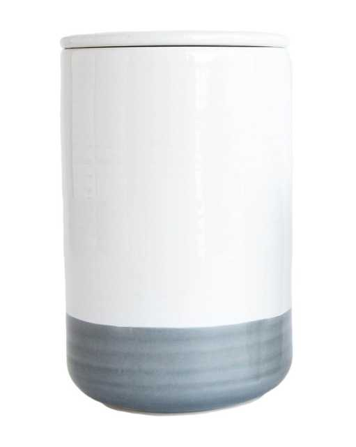 WHITE & GRAY CANISTER, LARGE - McGee & Co.