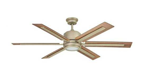 Palermo Grove 60 in. Integrated LED Indoor Antique Nickel Dual Mount Ceiling Fan with Light and Remote Control - Home Depot