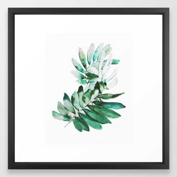 """Botanical Framed Art Print, 22"""" x 22"""", Vector black frame - Society6"""