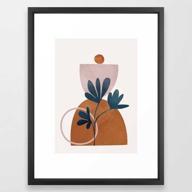 Minimal Abstract Shapes No.30 Framed Art Print - Society6