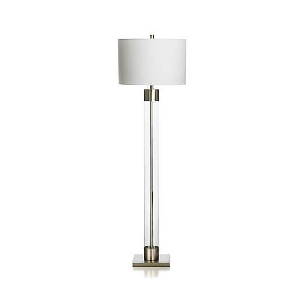 Avenue Nickel Floor Lamp - Crate and Barrel