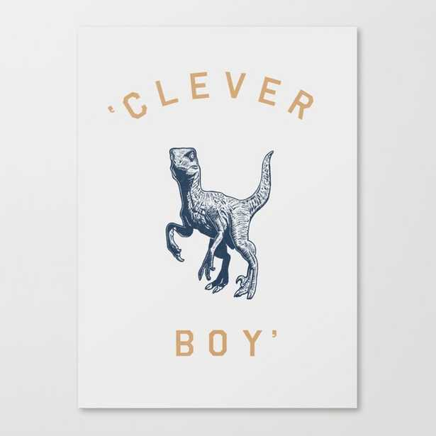 Clever Boy Canvas Print - Society6