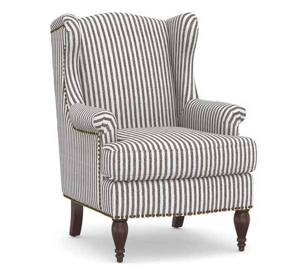 Delancey Petite Upholstered Wingback Armchair - Pottery Barn