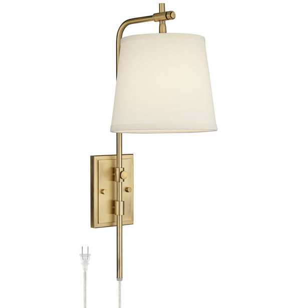 Seline Warm Gold Adjustable Plug-In Wall Lamp - Style # 71H55 - Lamps Plus
