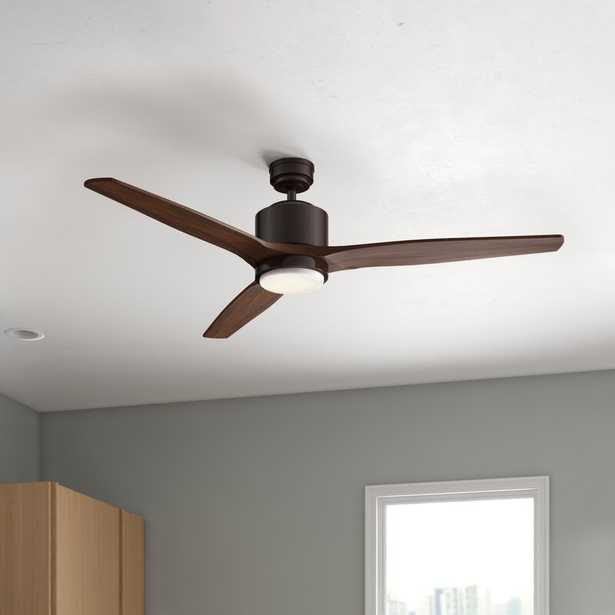 """56"""" Willaurie 3 - Blade LED Standard Ceiling Fan with Remote Control and Light Kit Included - Wayfair"""