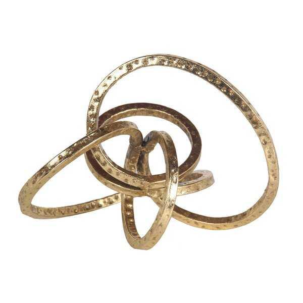 Scorpius Hammered Gold Table Top Decor - Wayfair