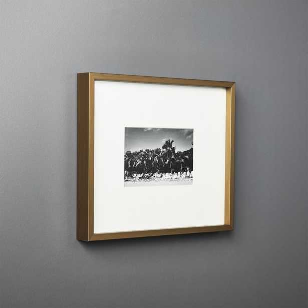 Gallery Brass Frame with White Mat 4x6 - CB2