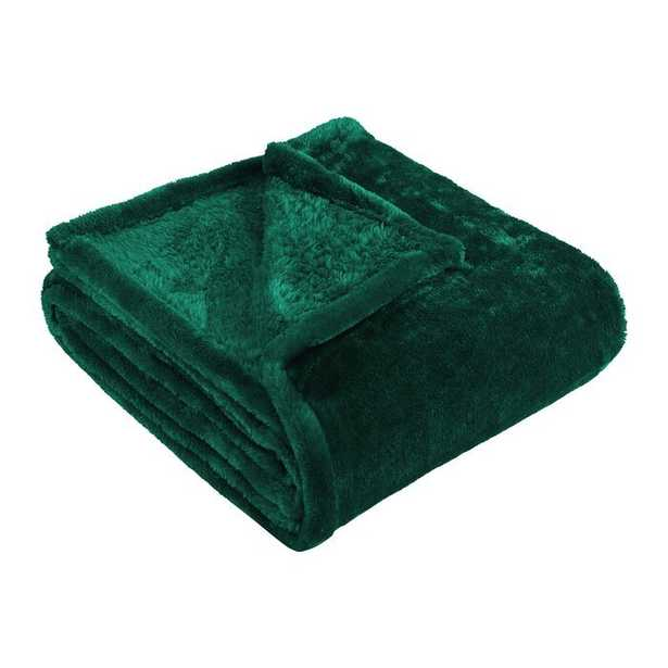 Geoff Modern Velvety Fleece Blanket - Wayfair