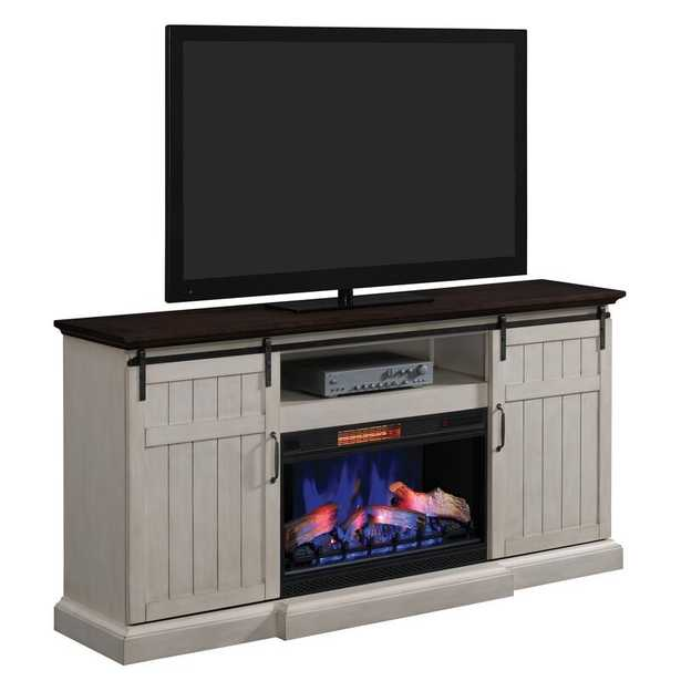 """Swedish Hill TV Stand for TVs up to 88"""" with Electric Fireplace Included - Wayfair"""