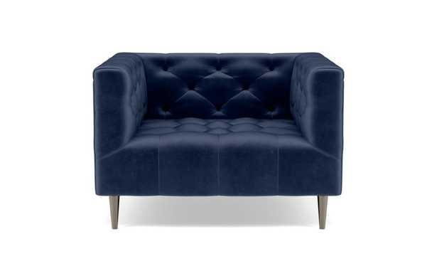 MS. CHESTERFIELD Accent Chair / blue bergen + Brushed Nickel - Interior Define