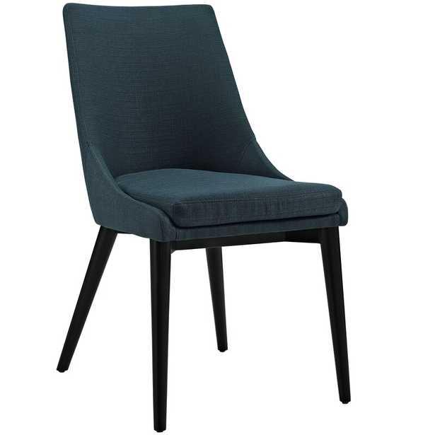 Carlton Wood Leg Upholstered Dining Chair- Azure - Wayfair