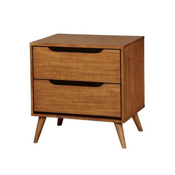 Mollie Mid-Century 2 Drawer Nightstand - Wayfair