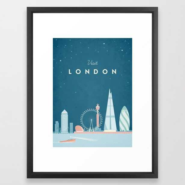 Vintage London Travel Framed Art Print - Society6