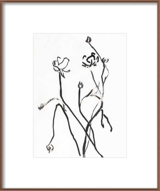Black Flowers by Or Lapid for Artfully Walls - Artfully Walls