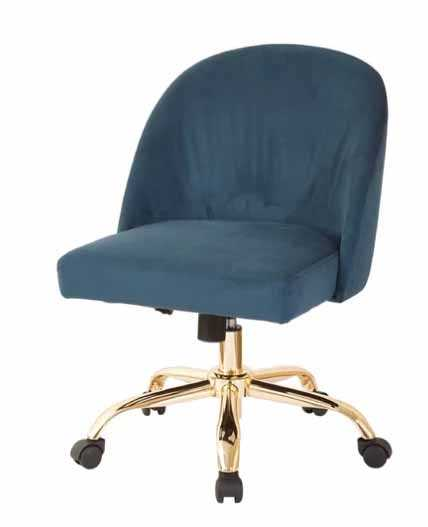 Ave Six Mid-Back Task Chair in Azure - Wayfair