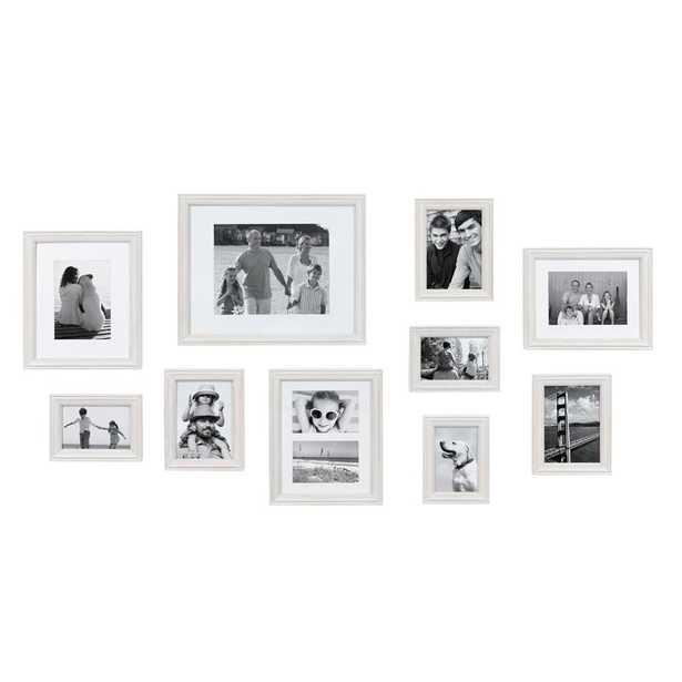 10 Piece Sturminster Gallery Picture Frame Set / White - Wayfair
