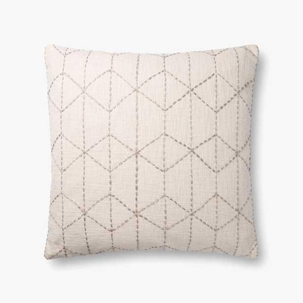 P0860 Ivory / Grey, poly fill - Loma Threads