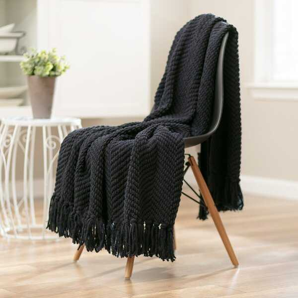 Goufes Textured Knitted Super Soft Blanket - Wayfair