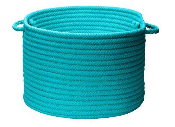 Utility Fabric Basket Turquoise - Wayfair