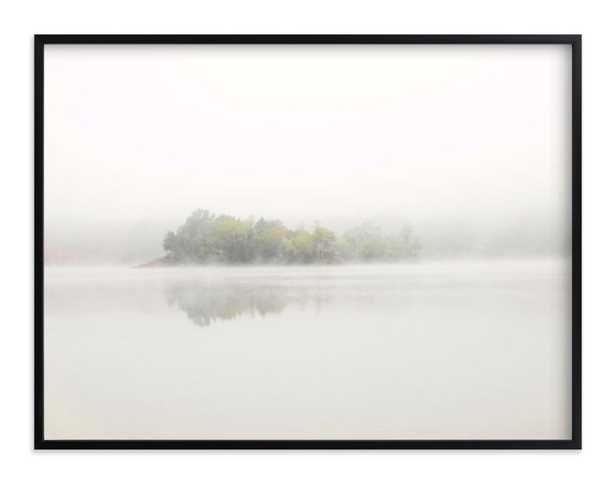 The Island - 40 x 30 - Rich Black Wood Frame, Standard Border, No Mat - Minted
