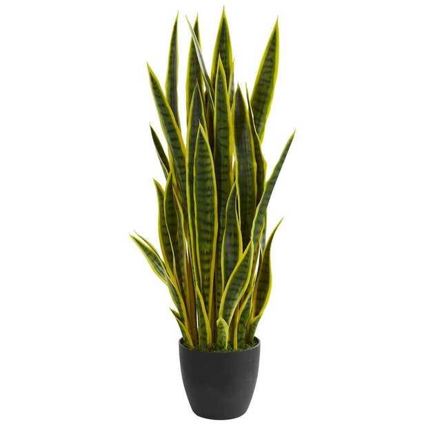"""38"""" Sansevieria Artificial Plant - Fiddle + Bloom"""
