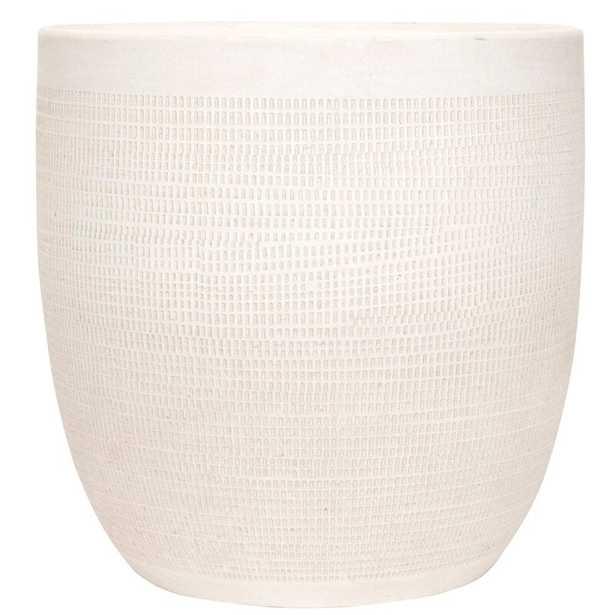 Keech Large Embossed Ceramic Pot Planter - AllModern